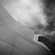 The beautiful curves and shapes of the Disney Concert Hall in downtown Los Angeles.