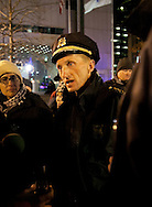 Boston, MA 12/09/2011.Boston Police Superintendent William Evans explains to news media members  that despite the passage of the city's deadline to vacate Dewey Square, no raid will take place tonight..Alex Jones / www.alexjonesphoto.com