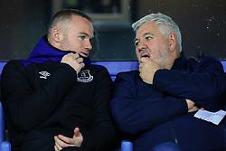 19th October 2017 - UEFA Europa League - Group E - Everton v Olympique Lyonnais - Wayne Rooney of Everton speaks to his agent, Paul Stretford - Photo: Simon Stacpoole / Offside.