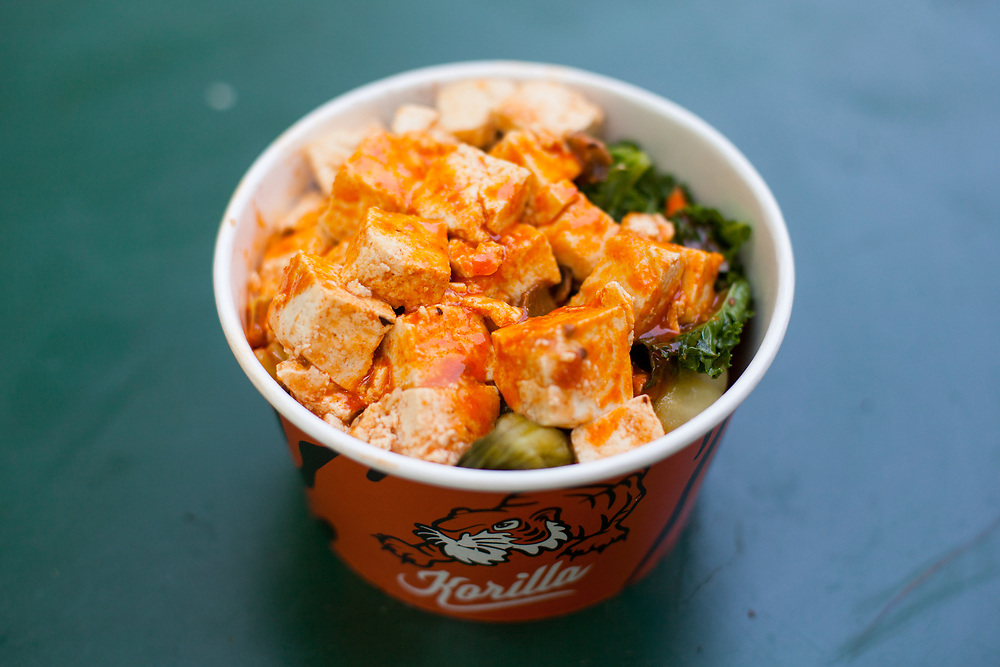 Spicy Tofu Rice Bowl at Korilla MadSqEats ($14.15) - Kim's last day