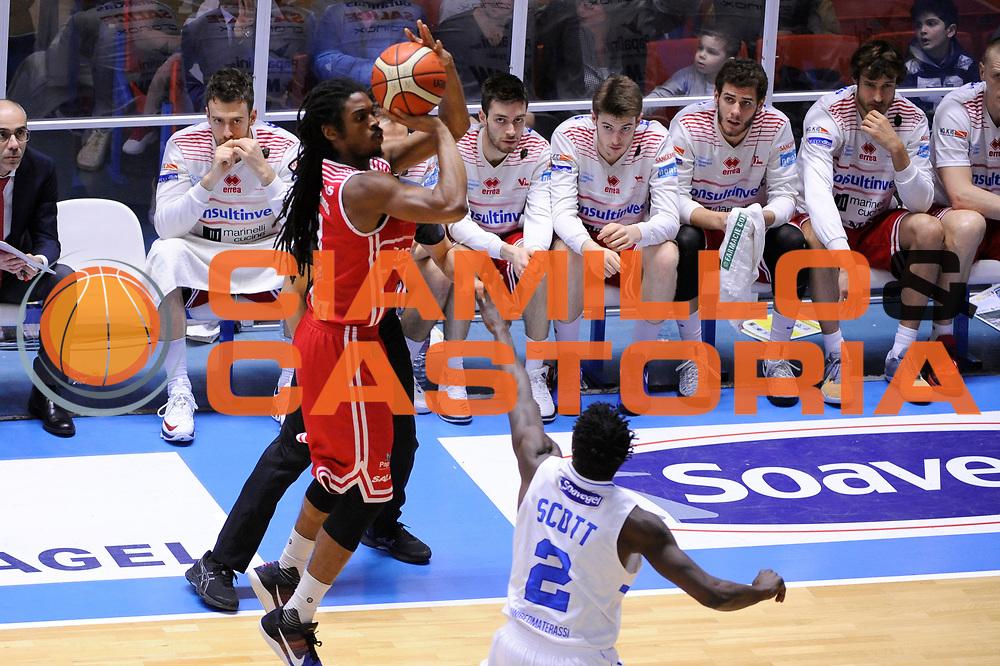 Thornton Marcus<br /> Enel Brindisi - Consultinvest Pesaro<br /> Lega Basket Serie A 2016/2017<br /> Brindisi, 09/04//2017<br /> Foto Ciamillo-Castoria