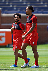 ANN ARBOR, USA - Friday, July 27, 2018: Liverpool's Mohamed Salah and Virgil van Dijk during a training session ahead of the preseason International Champions Cup match between Manchester United FC and Liverpool FC at the Michigan Stadium. (Pic by David Rawcliffe/Propaganda)