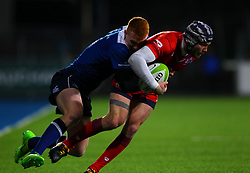 Ryan Edwards of Bristol United and Ciaran Frawley of Leinster - Mandatory by-line: Ken Sutton/JMP - 15/12/2017 - RUGBY - Donnybrook Stadium - Dublin,  - Leinster 'A' v Bristol United -