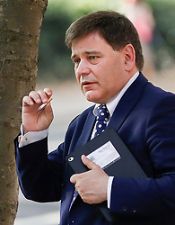 © Licensed to London News Pictures. 09/07/2018. London, UK. Brexit supporting Conservative MP Andrew Bridgen is seen outside TV studios near Parliament. Brexit Secretary David Davis has resigned. Photo credit: Peter Macdiarmid/LNP
