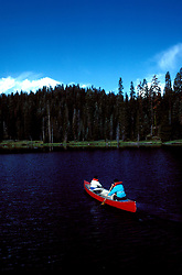 CA: Sequoia-Kings Canyon National Park, canoe   .Photo Copyright: Lee Foster, lee@fostertravel.com, www.fostertravel.com, (510) 549-2202.Image: catree212