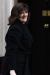 Downing Street, London, February 23rd 2016. Education Secretary Nicky Morgan arrives at the weekly cabinet meeting.  &copy;Paul Davey<br /> FOR LICENCING CONTACT: Paul Davey +44 (0) 7966 016 296 paul@pauldaveycreative.co.uk