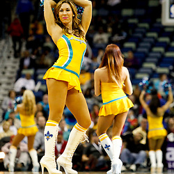 Jan 21, 2013; New Orleans, LA, USA; New Orleans Hornets Honeybees dancers perform during the third quarter of a game against the Sacramento Kings at the New Orleans Arena. The Hornets defeated the Kings 114-105. Mandatory Credit: Derick E. Hingle-USA TODAY Sports
