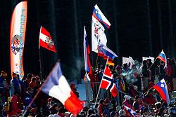 Fans during the Men 20 km Individual of the e.on IBU Biathlon World Cup on Thursday, December 16, 2010 in Pokljuka, Slovenia. The fourth e.on IBU World Cup stage is taking place in Rudno Polje - Pokljuka, Slovenia until Sunday December 19, 2010.  (Photo By Vid Ponikvar / Sportida.com)