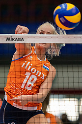 03-08-2019 ITA: FIVB Tokyo Volleyball Qualification 2019 / Netherlands, - Kenya Catania<br /> 3rd match pool F in hall Pala Catania between Netherlands - Kenya. Netherlands win 3-0 / Marrit Jasper #18 of Netherlands
