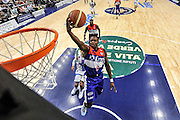 DESCRIZIONE : Campionato 2014/15 Dinamo Banco di Sardegna Sassari - Enel Brindisi<br /> GIOCATORE : David Cournooh<br /> CATEGORIA : Tiro Penetrazione Sottomano Special<br /> SQUADRA : Enel Brindisi<br /> EVENTO : LegaBasket Serie A Beko 2014/2015<br /> GARA : Dinamo Banco di Sardegna Sassari - Enel Brindisi<br /> DATA : 27/10/2014<br /> SPORT : Pallacanestro <br /> AUTORE : Agenzia Ciamillo-Castoria / Luigi Canu<br /> Galleria : LegaBasket Serie A Beko 2014/2015<br /> Fotonotizia : Campionato 2014/15 Dinamo Banco di Sardegna Sassari - Enel Brindisi<br /> Predefinita :