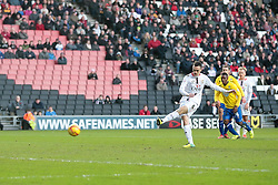 Milton Keynes Dons' Shaun Williams scoring from a penalty kick - Photo mandatory by-line: Nigel Pitts-Drake/JMP - Tel: Mobile: 07966 386802 30/11/2013 - SPORT - Football - Milton Keynes - Stadium mk - MK Dons v Coventry City - Sky Bet League One