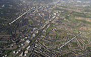 aerial photograph of Heeley  Sheffield West Yorkshire England UK