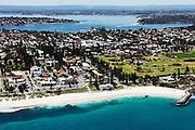 Aerial photographs of Cottesloe, North Cottesloe, Claremont, Pepermint Grove, Mosman Park, Fremantle, Henderson, Carnac Island, Perth city