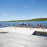 The 150th edition of the Harvard-Yale Regatta on the Thames River is held at Red Top on June 7, 2015 in Gales Ferry, Connecticut. (Photo by Elan Kawesch/Harvard University)
