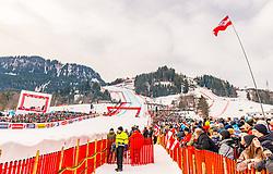 25.01.2020, Streif, Kitzbühel, AUT, FIS Weltcup Ski Alpin, Abfahrt, Herren, im Bild Übersicht // overview reacts after the men's downhill of FIS Ski Alpine World Cup at the Streif in Kitzbühel, Austria on 2020/01/25. EXPA Pictures © 2020, PhotoCredit: EXPA/ Stefan Adelsberger