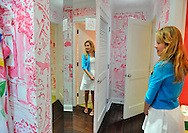 Teen shopping at Lilly Pulitzer, Metropolitan Museum of Art, and Times Square in Manhattan, New York City, New York, USA, on July 28, 2011.