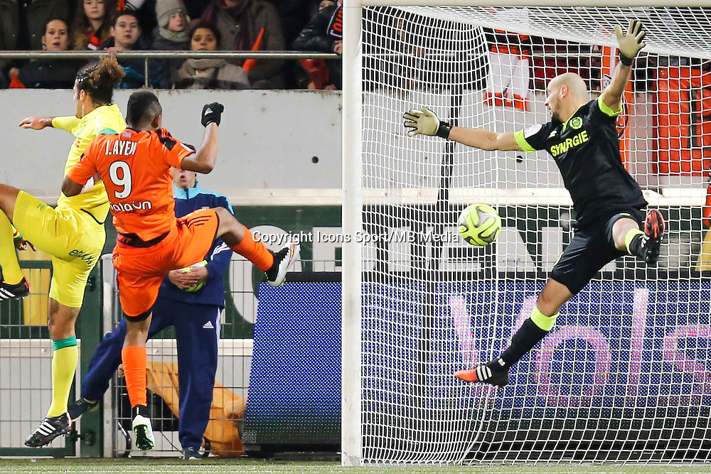 Goal Jordan AYEW - 20.12.2014 - Lorient / Nantes - 17eme journee de Ligue 1 -<br />Photo : Vincent Michel / Icon Sport