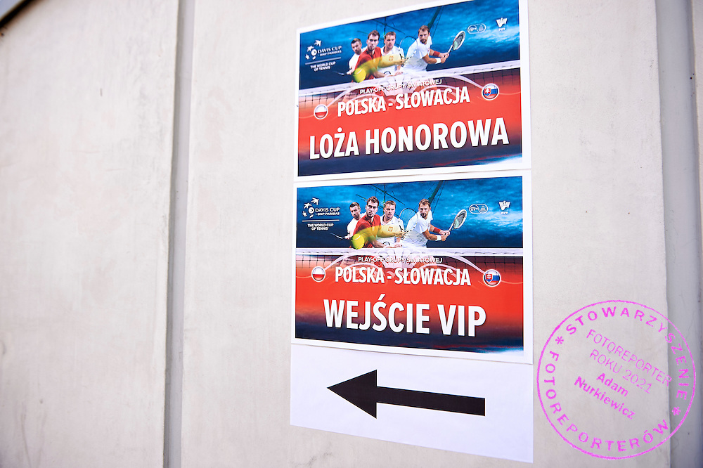VIP PZT signs during Davis Cup Tie World Group Play-off Poland v Slovakia at Gdynia Arena Hall in Gdynia, Poland.<br /> <br /> Poland, Gdynia, September 18, 2015<br /> <br /> Picture also available in RAW (NEF) or TIFF format on special request.<br /> <br /> For editorial use only. Any commercial or promotional use requires permission.<br /> <br /> Adam Nurkiewicz declares that he has no rights to the image of people at the photographs of his authorship.<br /> <br /> Mandatory credit:<br /> Photo by &copy; Adam Nurkiewicz / Mediasport