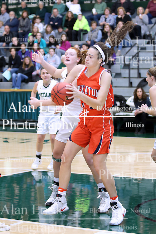 07 January 2017: Maddie Merritt and Devin Kyler  during an Wheaton Thunder and the Illinois Wesleyan Titans in Shirk Center, Bloomington IL