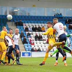 TELFORD COPYRIGHT MIKE SHERIDAN 10/11/2018 - GOAL. Shane Sutton of AFC Telford scores to make it 1-0 during the Vanarama Conference North fixture between AFC Telford United and Boston United.