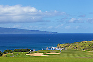 January 09 2015:  Number eleven green during the First Round of the Hyundai Tournament of Champions at Kapalua Plantation Course on Maui, HI.