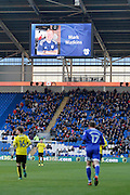 Cardiff City fans pay tribute to a fan during the EFL Sky Bet Championship match between Cardiff City and Burton Albion at the Cardiff City Stadium, Cardiff, Wales on 21 January 2017. Photo by Richard Holmes.
