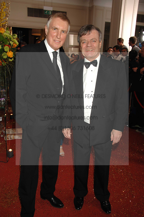 Left to right, Radio presenters JOHNNIE WALKER and TONY BLACKBURN at the Galaxy British Book Awards 2007 - The Nibbies held at the Grosvenor house Hotel, Park Lane, London on 28th March 2007.<br /><br />NON EXCLUSIVE - WORLD RIGHTS