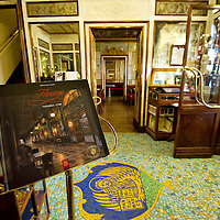 VENICE, ITALY - DECEMBER 02:  A general view inside the Caffe Florian on December 2, 2011 in Venice, Italy.The Venetian coffee houses have a  long standing history, established at the beginning of 1700 around St. Mark Square have been the centre of cultural meeting and innovations for centuries and served customers like Dickens, Goethe, Casanova and Lord Byron.
