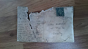"""Heart warming story of a woman who found an 80-year-old postcard stashed between floor tiles and manages to track down recipient<br /> <br /> A homeowner was shocked to discover an 80-year-old POSTCARD stashed between layers of floor tiles in her kitchen. Katie Tiplady-Startin, 33, was in the middle of putting an extension on her kitchen when she discovered the correspondence, which was dated August 1937. The business owner, who runs a PA and admin support company, found the surprise discovery at her terraced home in Coundon, Coventry, West Mids., in November. Speaking yesterday (Sat), Katie, who lives with husband Gary, 40, their two sons and two step-sons, said: """"The original terraced houses in Coventry were built in the 1930s and the kitchens are quite small. They are roughly the size of the bathroom. """"Last year, we were gifted some money so decided to put it towards a kitchen extension as I have a lot of boys in the house with me and things were getting cramped.<br /> ©Exclusivepix Media"""