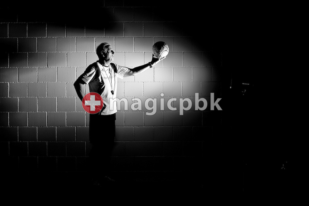 FC Thun head coach Bernard CHALLANDES of Switzerland poses during a portrait session at the Arena Thun in Thun, Switzerland, Friday, Aug. 19, 2011. (Photo by Patrick B. Kraemer / MAGICPBK)