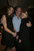 Yasmin LeBon, Charles Finch and Sienna Miller,  Charles Finch and Chanel 7th Anniversary Pre-Bafta party to celebratew A Great Year of Film and Fashiont at Annabel's. Berkeley Sq. London W1. 10 February 2007. -DO NOT ARCHIVE-© Copyright Photograph by Dafydd Jones. 248 Clapham Rd. London SW9 0PZ. Tel 0207 820 0771. www.dafjones.com.