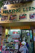 Where Barack Obama and Anthony Bourdain dined, Bun Cha Huong Lein Restaurant, Hanoi,Vietnam, Asia