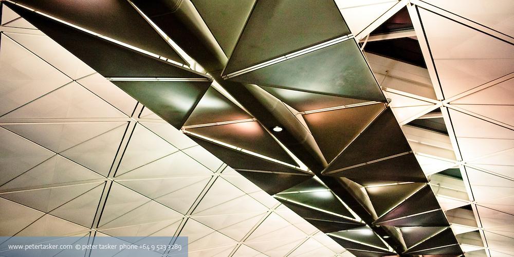 Roof section inside Hong Kong International Airport.