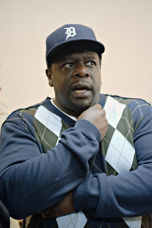 "Actor Cedric the Entertainer during meet-and-greet session before first rehearsal of 2008 Broadway revival of David Mamet's play ""American Buffalo""; Cedric co-starred with John Leguizamo and Haley Joel Osment; the show ran for a week at the Belasco, closing on November 23, 2008"