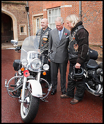 HRH Prince Charles meets ambassadors for the Royal British Legion launch London Poppy Day to raise £1m. Hells Angels ..L-R Simon Payne and Dave Hughes. Photo By i-Images