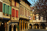 France. Ariege. Cite medievale de Mirepoix. //  France. Ariege. Medieval city of Mirepoix.