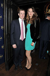 THOMAS HOWARD and MIMA LOPES at the launch of the Johnnie Walker Blue Label Club held at The Scotch, Mason's Yard, London on 1st May 2012.
