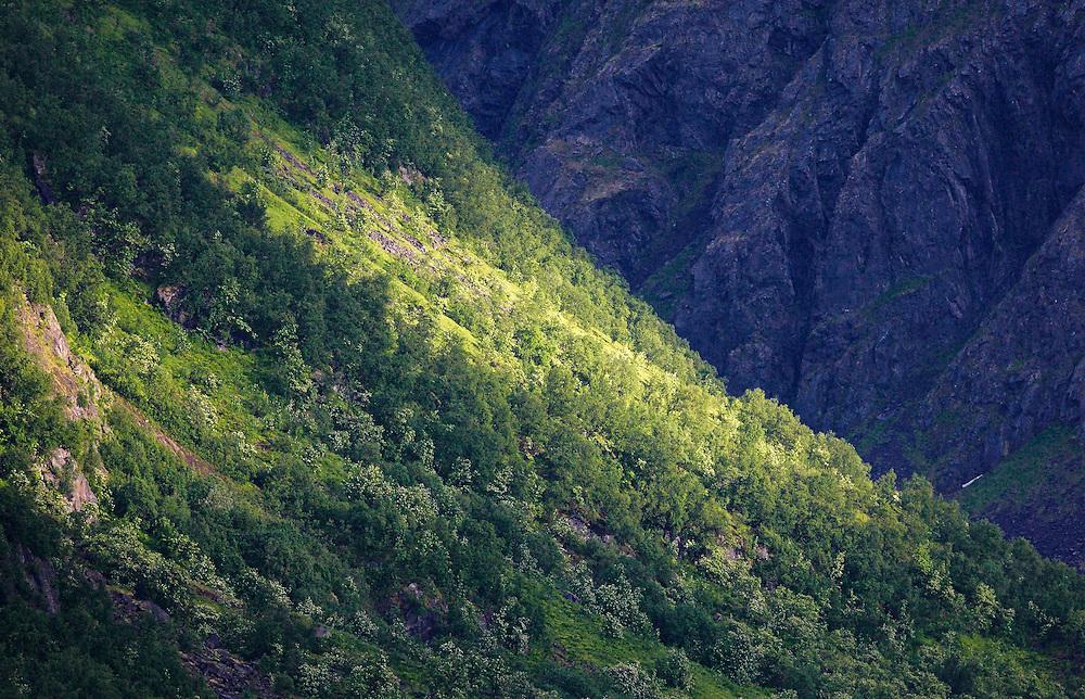 Norway - Sunbeam on mountains