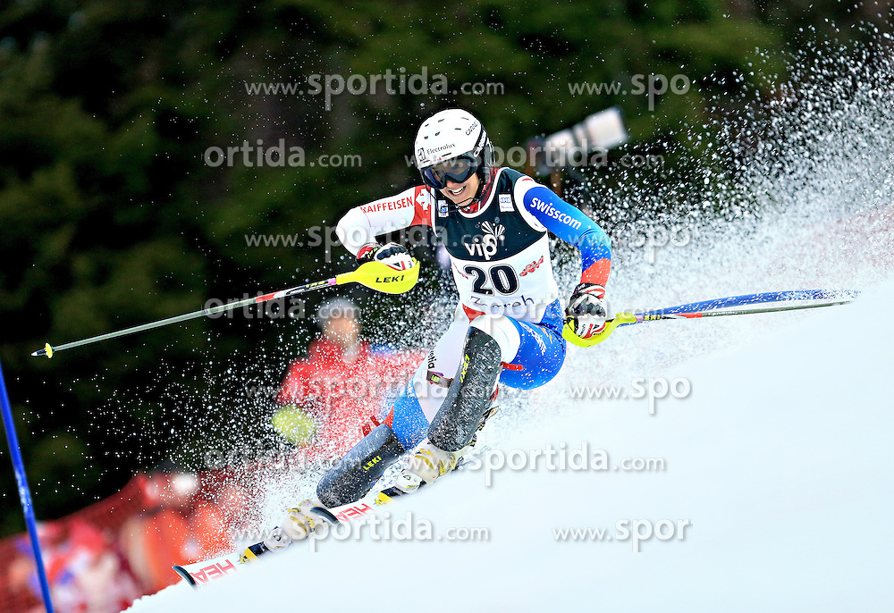 04.01.2013, Crveni Spust, Zagreb, AUT, FIS Ski Alpin Weltcup, Slalom, Damen, 1. Lauf, im Bild Wendy Holdener (SUI) // Wendy Holdener of Switzerland in action // during 1st Run of the ladies Slalom of the FIS ski alpine world cup at Crveni Spust course in Zagreb, Croatia on 2013/01/04. EXPA Pictures © 2013, PhotoCredit: EXPA/ Pixsell/ Slavko Midzor..***** ATTENTION - for AUT, SLO, SUI, ITA, FRA only *****