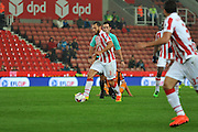 Stoke City defender Erik Pieters advances  during the EFL Cup match between Stoke City and Hull City at the Britannia Stadium, Stoke-on-Trent, England on 21 September 2016. Photo by John Marfleet.
