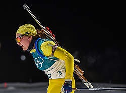 February 12, 2018 - Pyeongchang, Gangwon, South Korea - Linn Persson of Sweden competing at Women's 10km Pursuit, Biathlon, at olympics at Alpensia biathlon stadium, Pyeongchang, South Korea. on February 12, 2018. (Credit Image: © Ulrik Pedersen/NurPhoto via ZUMA Press)