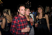 EDWARD SACKVILLE; JESSICA PALMER-TOMPKINSON; AMY MCGUINNESS.  The Tatler Little Black Book party. Tramp. 40 Jermyn St. London SW1 *** Local Caption *** -DO NOT ARCHIVE-© Copyright Photograph by Dafydd Jones. 248 Clapham Rd. London SW9 0PZ. Tel 0207 820 0771. www.dafjones.com.