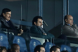Emir of Qatar, Tamim ben Hamad Al Thani in the stands watching Champions League Paris-St-Germain vs Liverpool football match at the Parc des Princes stadium in Paris, France, on November 28, 2018. Photo by Henri Szwarc/ABACAPRESS.COM