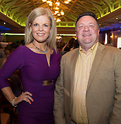 Marietta Doran Fashion Consultant and John O'Boyle at A Vintage and Pre-Loved Fashion Extravaganza held in the Lady Gregory Hotel in Gort . A fundraising event organised by the Parents Council for Seamount's new pitch.  Photo:Andrew Downes