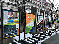 "Poland, Warsaw - 2017 December 01: Photo Exhibition ""Rio 2016"" by © Adam Nurkiewicz at Krakowskie Przedmiescie street on December 01, 2017 in Warsaw, Poland.<br /> <br /> Mandatory credit:<br /> Photo by © Adam Nurkiewicz<br /> <br /> Adam Nurkiewicz declares that he has no rights to the image of people at the photographs of his authorship.<br /> <br /> Picture also available in RAW (NEF) or TIFF format on special request.<br /> <br /> Any editorial, commercial or promotional use requires written permission from the author of image."