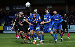 Rhys Bennett of Peterborough United challenges for the ball with Nesta Guinness-Walker of AFC Wimbledon - Mandatory by-line: Joe Dent/JMP - 18/01/2020 - FOOTBALL - Cherry Red Records Stadium - Kingston upon Thames, England - AFC Wimbledon v Peterborough United - Sky Bet League One