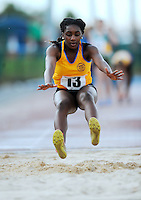 20 Aug 2016: Chisom Ugwueru, from Clare, winner of the Girls Long Jump U14 Final.  2016 Community Games National Festival 2016.  Athlone Institute of Technology, Athlone, Co. Westmeath. Picture: Caroline Quinn