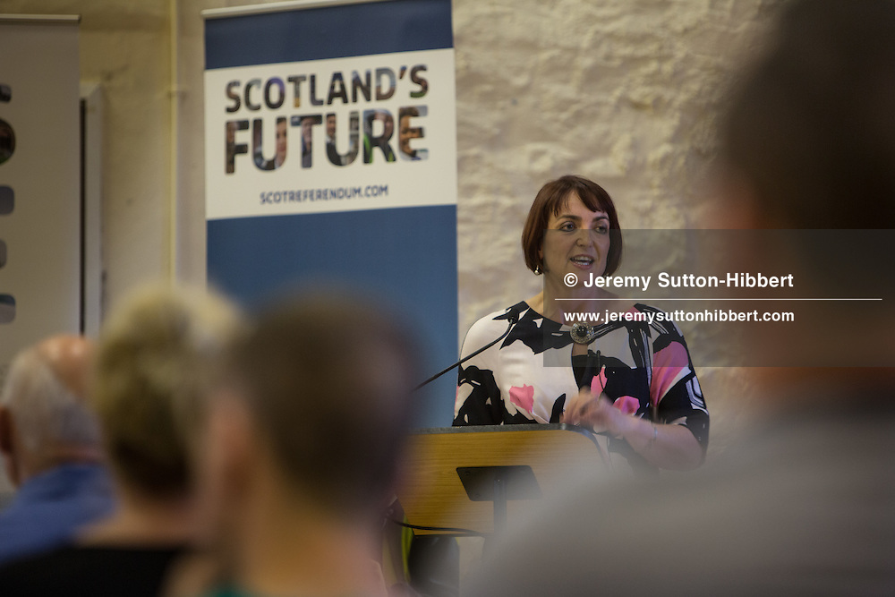 Public Q&A event, with Angela Constance MSP, Cabinet Secretary for Training, Youth, and Women's Employment, in Village Community Hall, Cumbernauld, Glasgow, Scotland, Wednesday 25th June 2014.