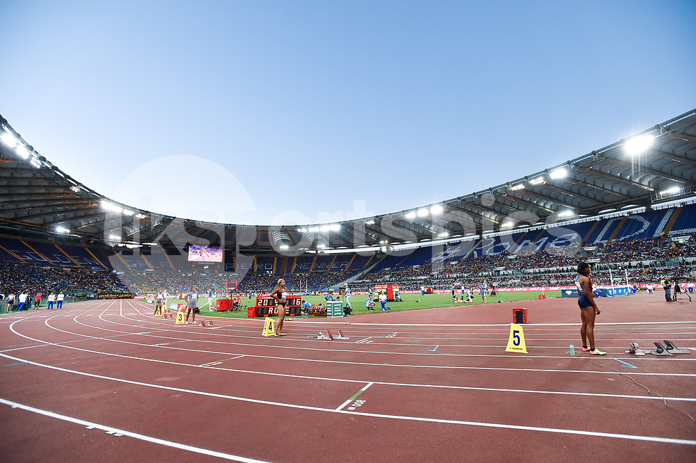 A view of Olympic Stadium during the IAAF Diamond League Golden Gala Pietro Mennea at Stadio Olimpico, Rome, Italy on 8 June 2017. Photo by Giuseppe Maffia.
