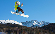Snowboarding at Telluride Ski Resort